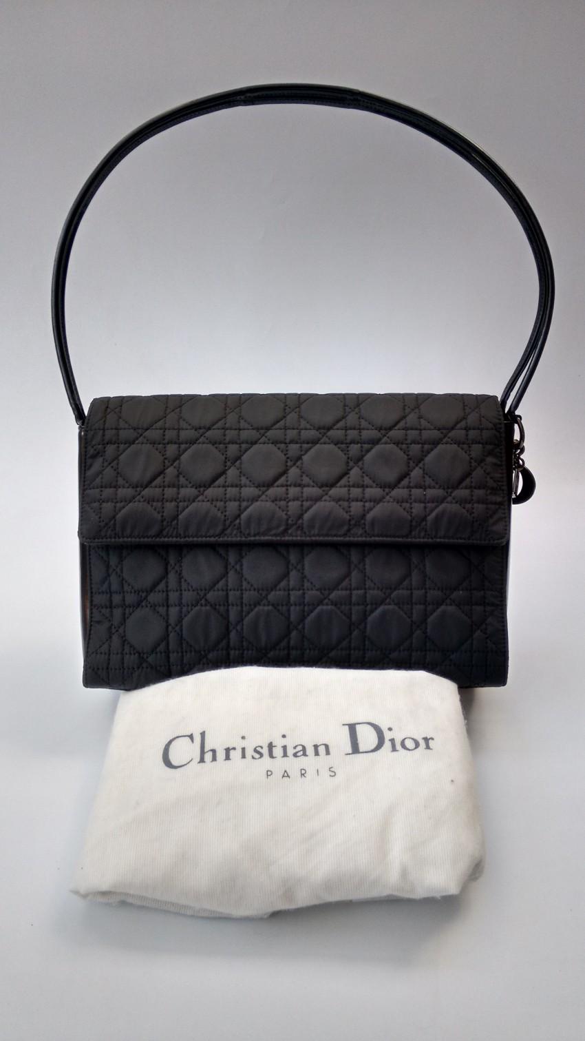 f38265a6efb Christian Dior Vintage Black Cannage Quilted Shoulder Bag . 23. 12345678910