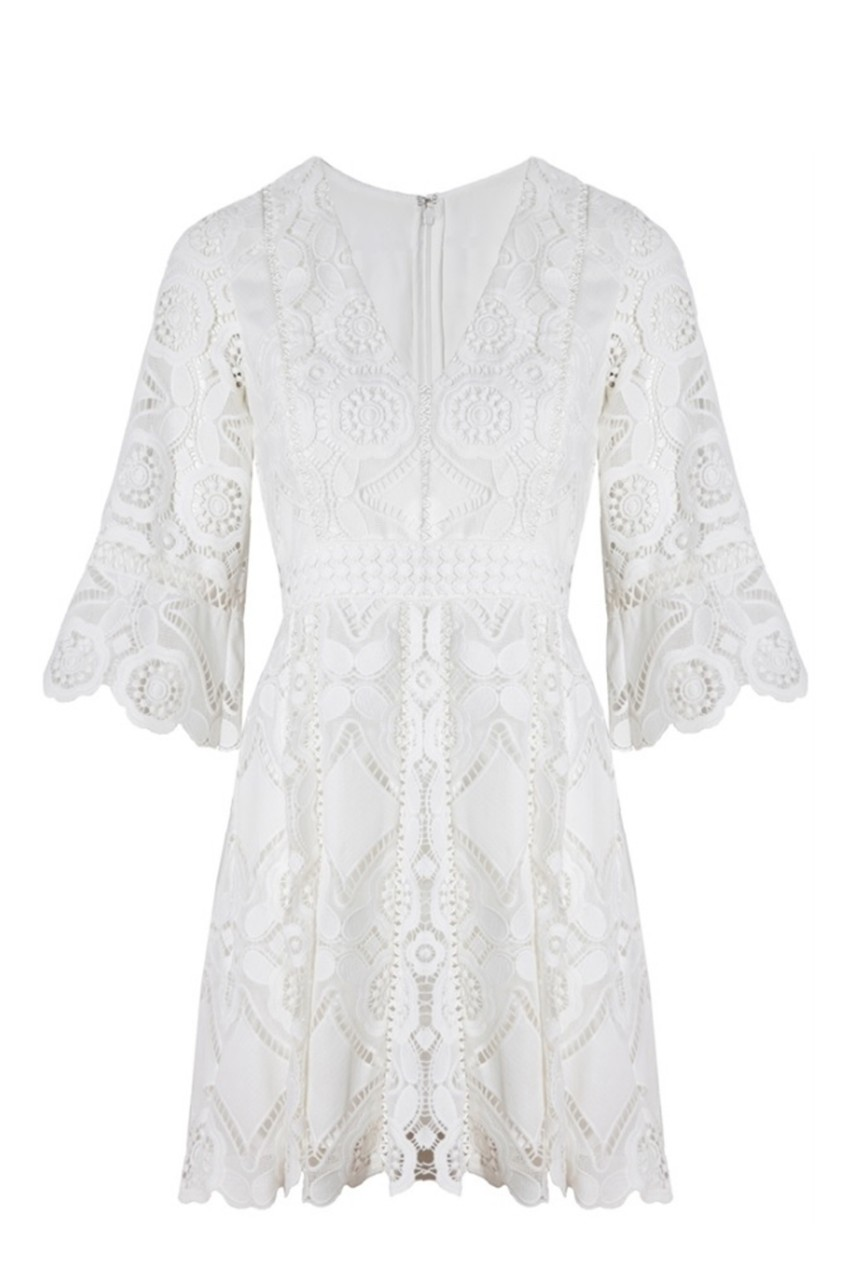 ALEXIS - White Webb Dress