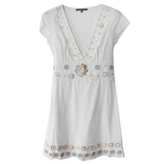 Elizabetta Franchi white broderie anglaise dress