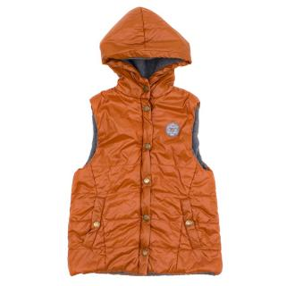 Marie Chantal Orange Vest Coat