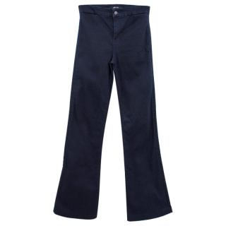 J Brand Dark Blue Tailored Flare Jeans