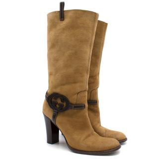 Gucci Brown Long Fur Lined Boots
