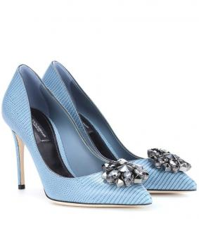 Dolce & Gabbana Bellucci current collection embellished leather pumps