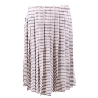 Prada Monochrome Logo Print Skirt
