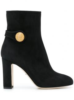 Dolce & Gabbana Vally black suede ankle boot