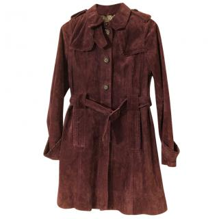 Essentiel Antwerp suede trenchcoat