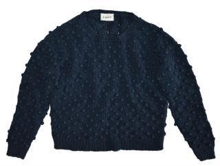 Ganni dark blue linen cotton sweater