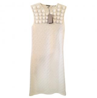 Bottega Veneta Cream Wool Blend Dress