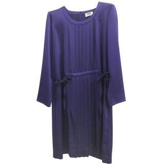 Sonia Rykiel blue pleated dress