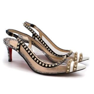Louboutin Monochrome Studded Sandals