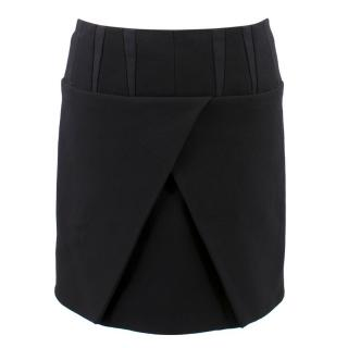 Balenciaga Paris Black Wrap Skirt