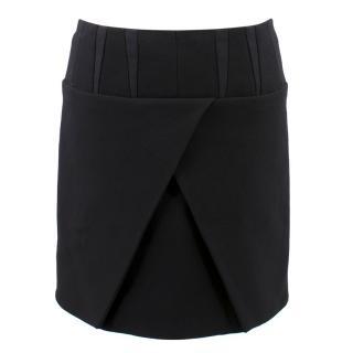 Balenciaga Paris Black Wrap Skirt
