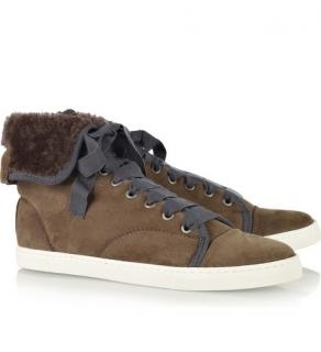 Lanvin Shearling Sneakers