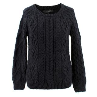 Isabel Marant Black Knitted Cable Jumper