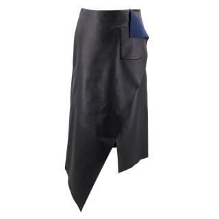 Balenciaga Paris Leather Wrap Midi Skirt - Current Collection