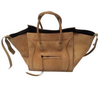 Celine Medium Luggage Phantom Suede bag