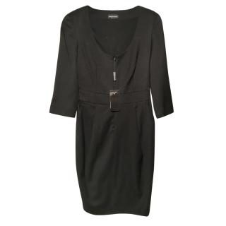 Emporio Armani Black Zip Front Dress