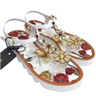 Dolce & Gabbana white crystal sandals