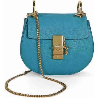 Chloe turquoise mini Drew Bag