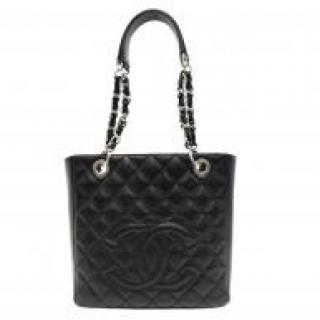 Chanel Black Quilted Petite Shoulder Tote