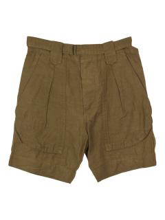 Isabel Marant linen-blend green shorts