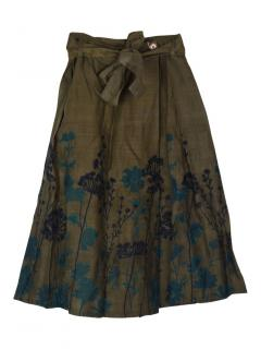 Weekend Max Mara embroidered floral pleated skirt