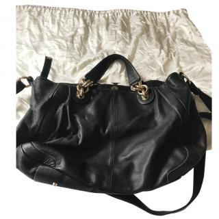 Furla black leather shoulder/Handbag