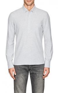 Brunello Cucinelli Cotton Pique Slim Button-Down Polo Shirt