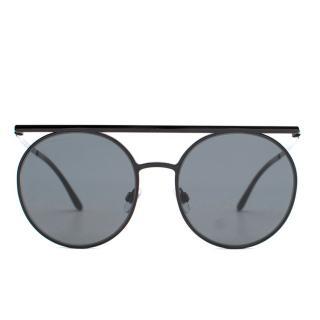 Giorgio Armani AR6069 Black Round Sunglasses