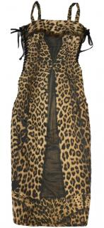 Gaultier leopard corset dress