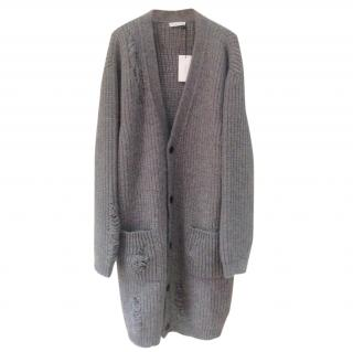 JW ANDERSON Grey Chunky Laddered Cardigan