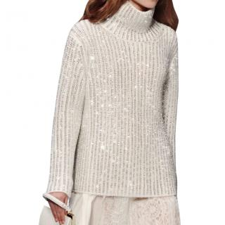 Ermanno Scervino sweater with crystal embellishment