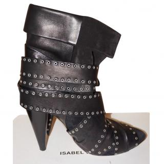 Isabel Marant sided leather strap ankle boots
