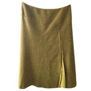 Sportmax green tweed skirt