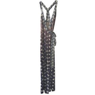 Diane Von Furstenbeg wrap maxi dress