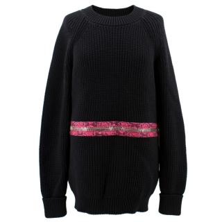 Christopher Kane Black Cotton Jumper