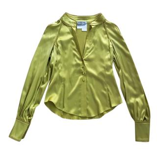 Sportmax green silk blouse