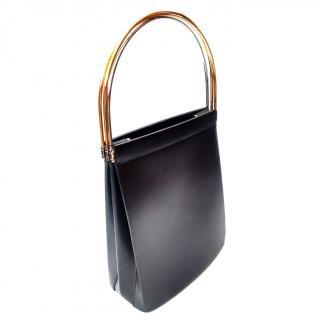 CARTIER Trinity Vintage Black Leather Bag.
