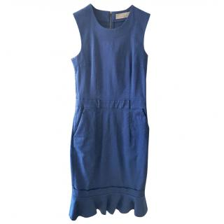 Preen By Thorton Bregazzi cotton spandex round neck sleeveless dress