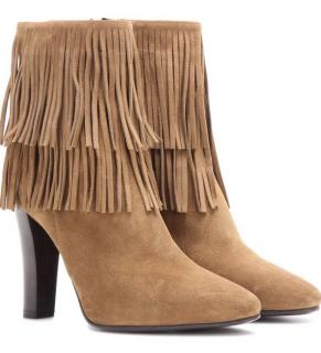 Saint Laurent Lily fringe ankle boot