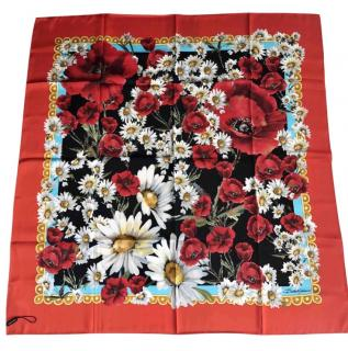Dolce & Gabbana floral silk scarf