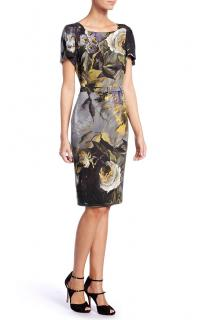 Escada Floral Print Fitted Dress