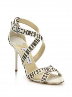 Jimmy Choo Striped Lottie Sandals