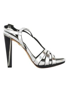 Diane von Furstenberg silver high heel sandals