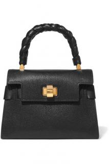Miu Miu Black Leather Click Top Handle Tote
