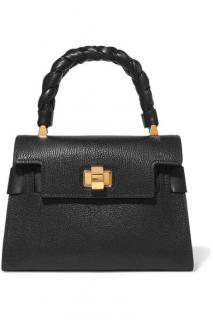 Miu Miu Black Leather Click Top Handle Tote