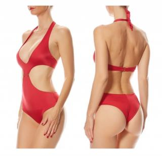 La Perla red one piece swimsuit