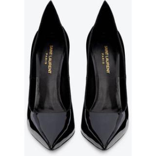 Saint Laurent black patent leather Thorn Pumps