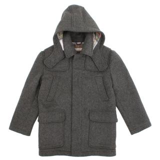 Stella McCartney Kids Grey Wool Blend Coat