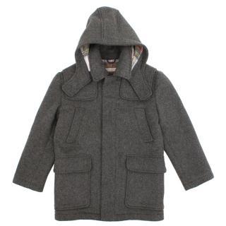 Stella McCartney Kids Grey Wool Blend Coat